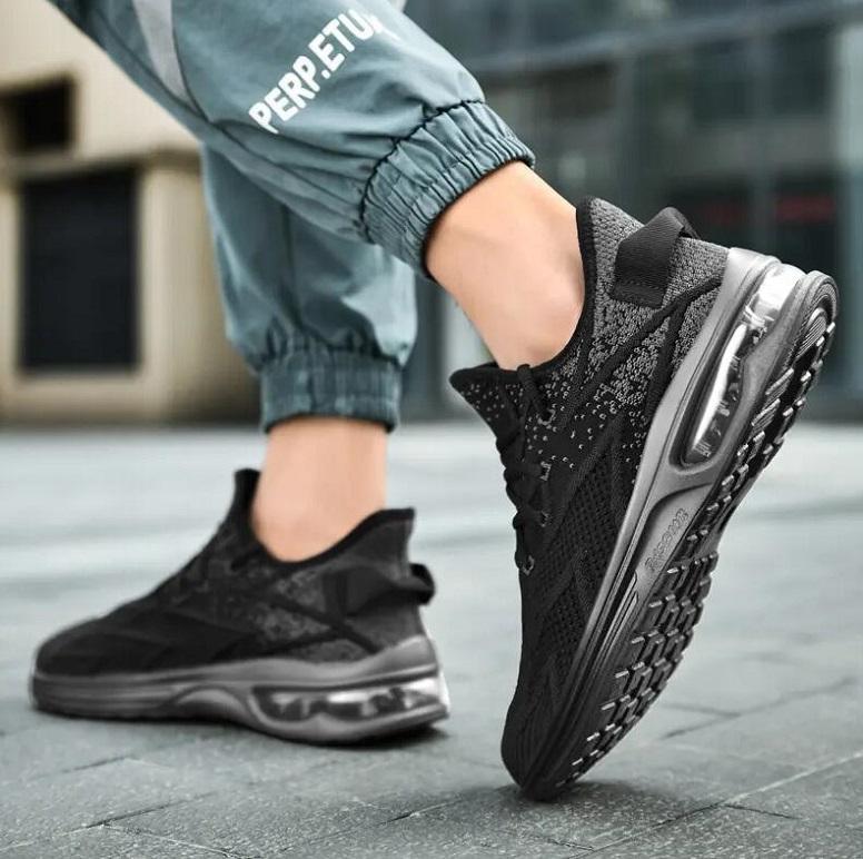 Rye656 Мода дизайнер спортивные сетки мужчины случайные ходьбы обувь летающие тканые открытый тренер мужской дышащий повышений мужчина оптом кроссовки синий черный белый
