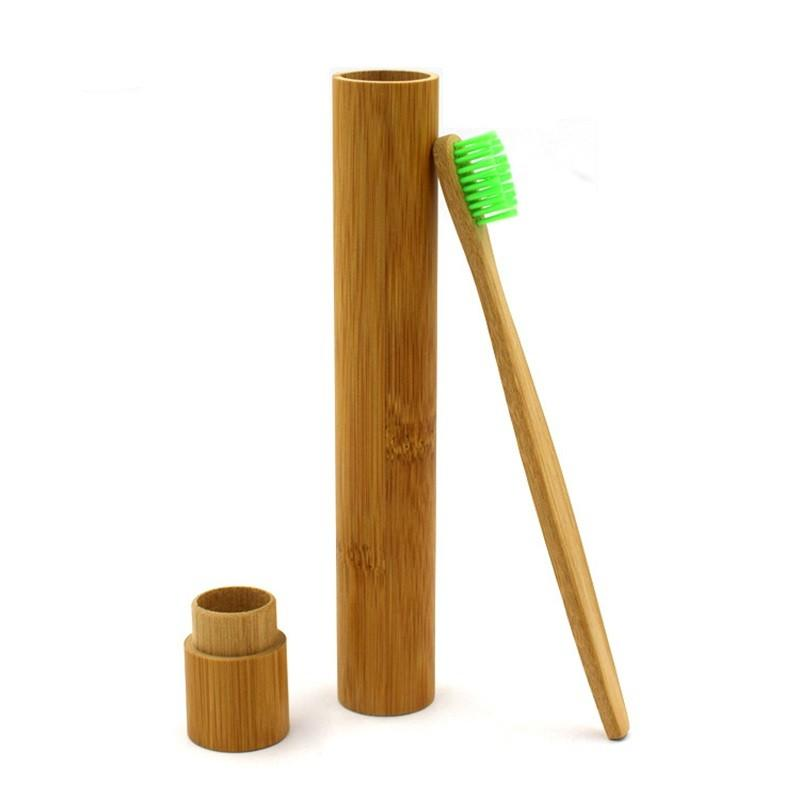 Portable Natural Bamboo Toothbrush Box Case Tube For Travel Eco Friendly Hand Made Storage Boxes 2027 V2