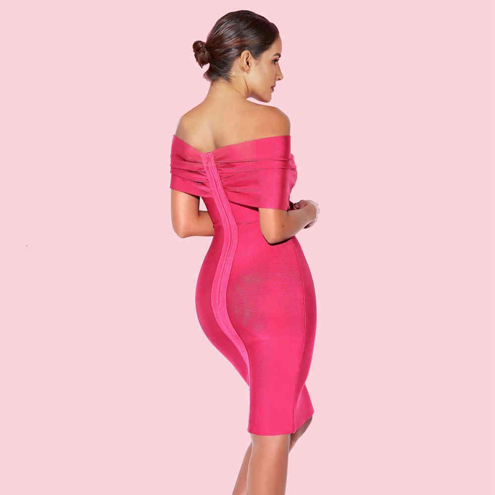 Vestida uma roupa de verão para mulheres cor-de-rosa sexy bandagem bodycon clube vestido de festa ijci