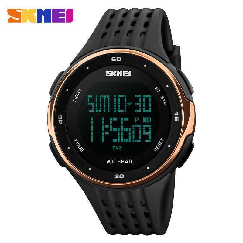 Skmei marca esportes ao ar livre relógios homens 50m impermeável natação de escalada alarme LED relógio militar digital para homens mulheres relógios de pulso y0708