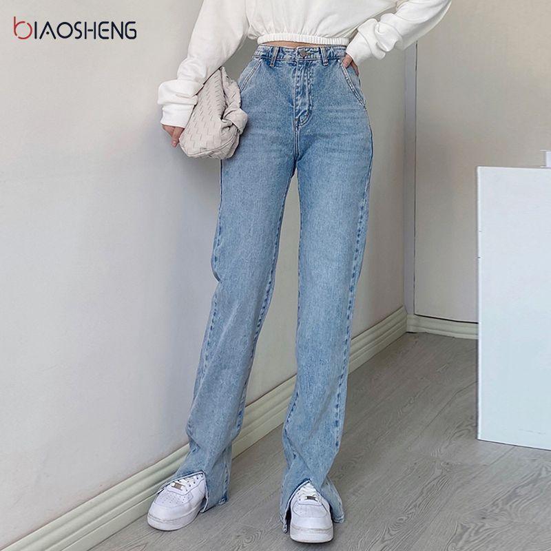 Calça jeans flared cintura alta denim calças para calça jeans feminina streetwear moda vintage roupas botas cortadas grandes calças de tamanho grande