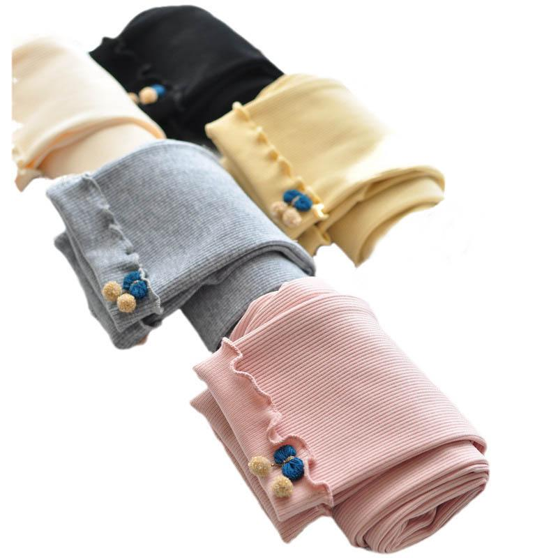 Girls Leggings Baby Pants Kids Tights Children Clothes Child Clothing Spring Autumn Cotton Long Trousers B8661