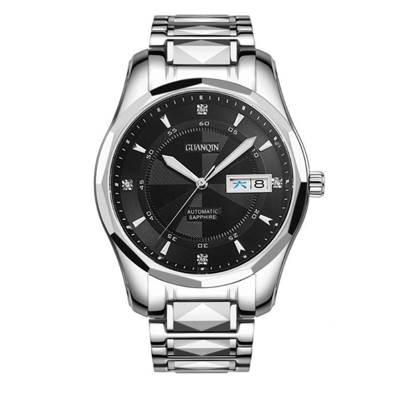 Armbanduhren Guanqin Saphir Automatische mechanische Uhr Männer Japan NH36 Bewegung Top Uhren Wasserdicht Relogio Masculino