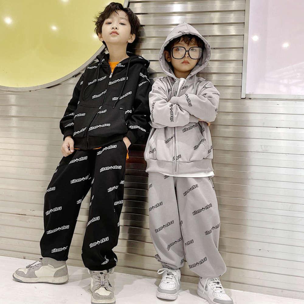 Enfants ClothessSportswear Xiha Monkey 2021 Garçons Cardigan Zhongda Spring Tricoté Portez le top and pantalon des enfants