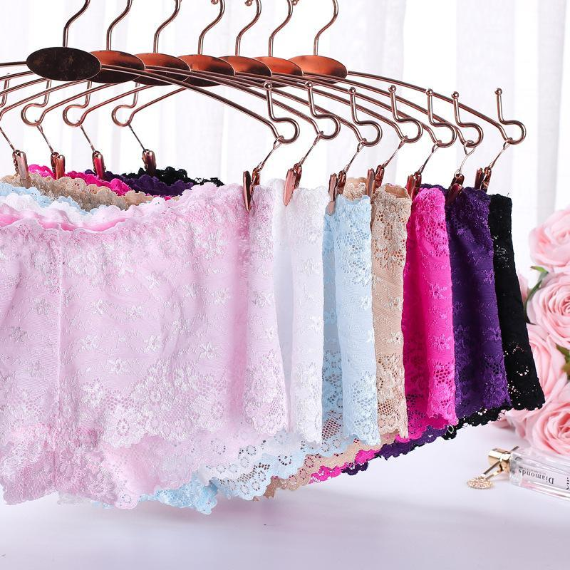 Women's Panties 6 Colors/sexy Lace Ladies Boxer Briefs Temptation Low Waist Water-soluble Jacquard Transparent Buttocks Cotton Bottom File P