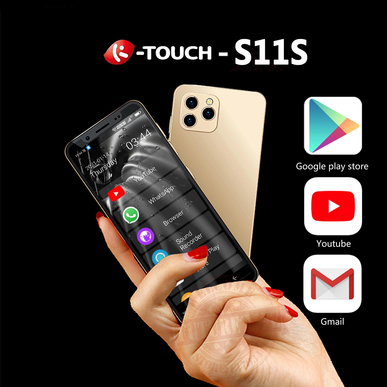 "Original k-touch S11s Mini Smartphone 4GB 64GB 4,8 ""Android 9.0 Gesichts-ID Unlocked LTE 4G Dual SIM-Karten-Mobiltelefon-Unterstützung Google Play Small Student Handy"