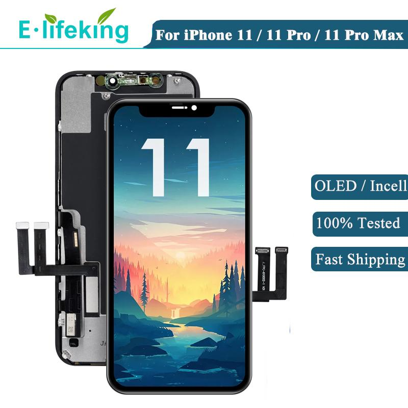 OLED Ekran iPhone 11 Pro 11Pro Max LCD Ekran Dokunmatik Panel Montaj Sayısallaştırıcı Orijinal Yedek Yüksek Kalite X11 OEM 100% Test No ölü piksel