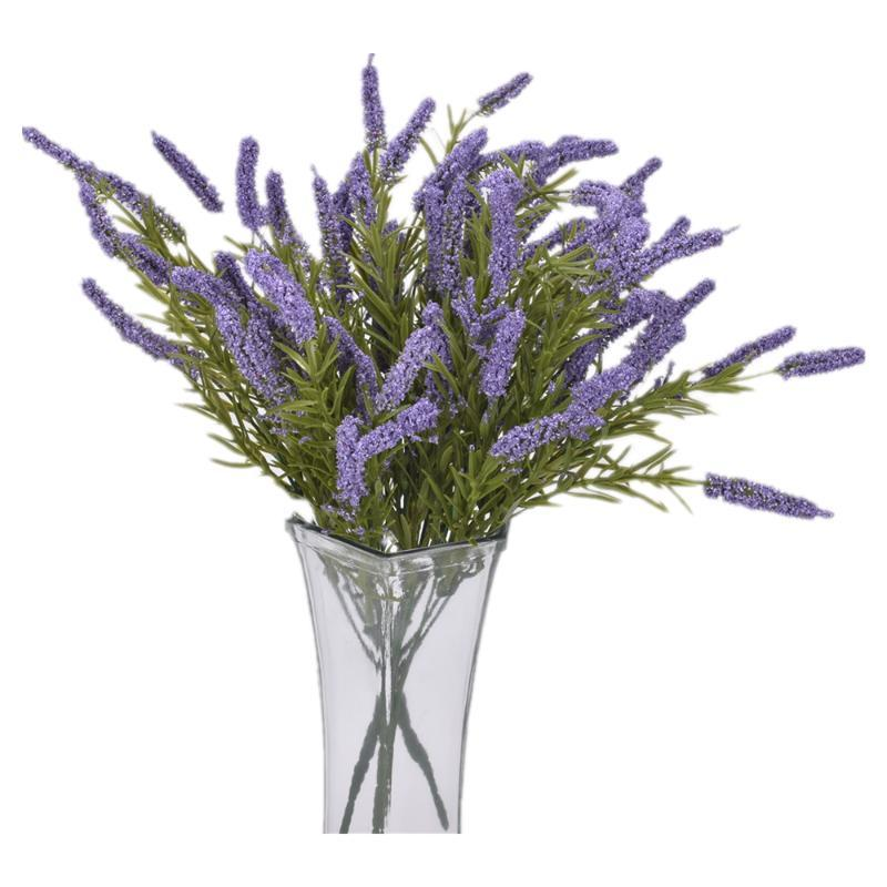 Decorative Flowers & Wreaths 3 Bunches Of Lavender Lifelike Fake Plastic Furniture El Garden Family Wedding Party Outdoor Living Room Decora