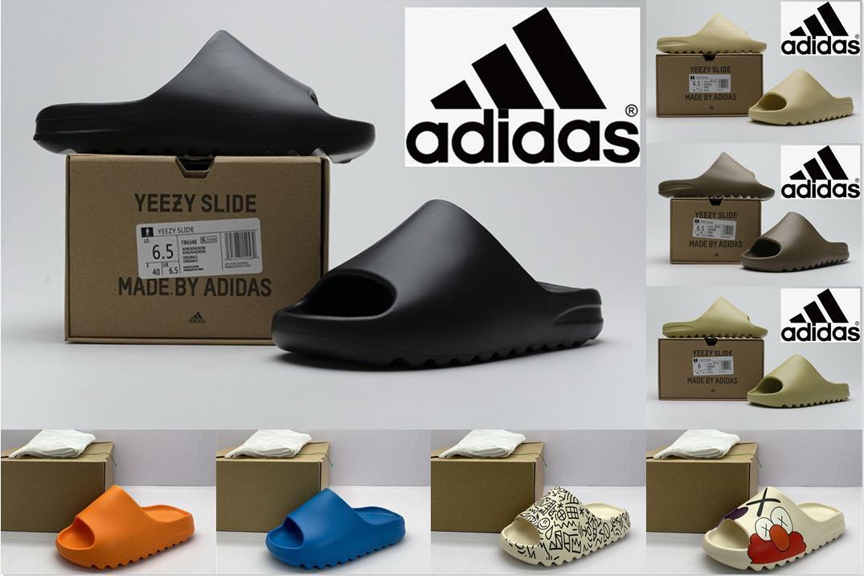 Adidas Kanye Batı Terlik Yeezy Yezzy Yeezys Slayt Kıç Sandal Köpük Koşucu Siyah MXT Ay Gri Terlik Kadın Erkek Tainers Kemik 450 Tasarımcı Beach Sandalet Ayakkabı