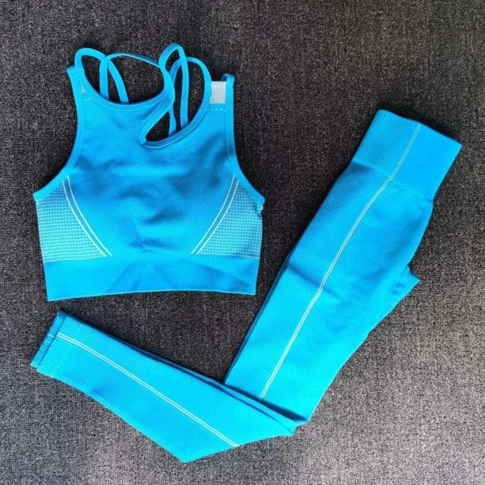 Novo 2 PCS definido mulheres sem costura yoga conjunto fitness esportes ternos panos de ginásio yoga sutiã alta cintura running leggings workout roupas tops