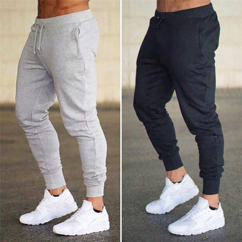 ملابس رجالية jogger فقط كسرها السراويل الرجال اللياقة البدنية كمال الاجسام رياضة للعدائين رجل تجريب رياضية sweatpants عرق السراويل عارضة