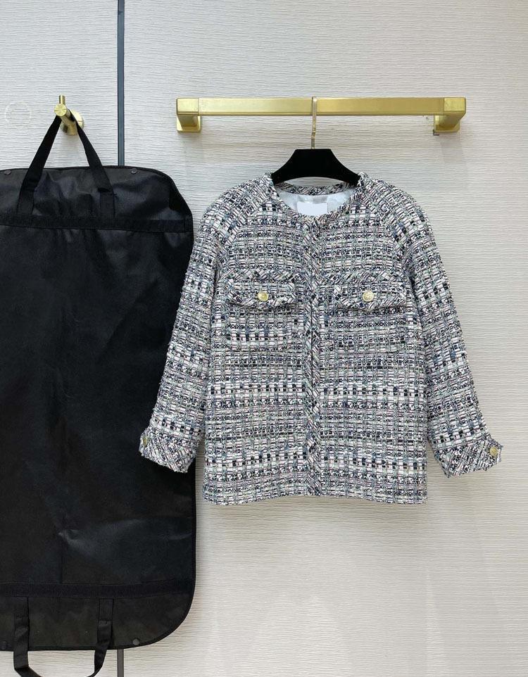 Milan Pist Ceketler 2021 O Boyun Uzun Kollu kadın Tasarımcı Mont Marka Aynı Stil Giyim 0319-1