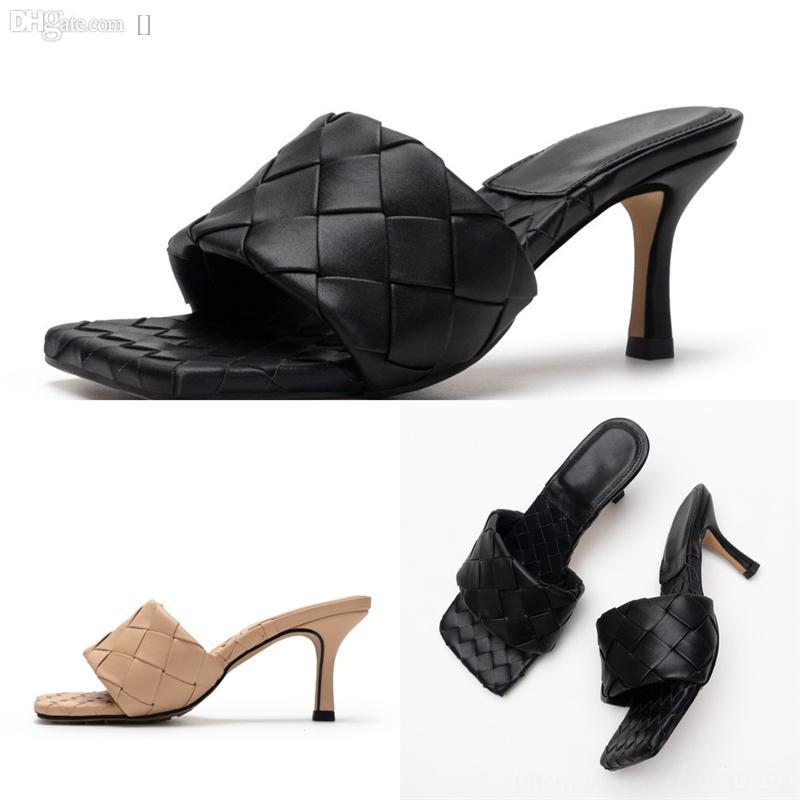 WMFJK Klasik Kadın Lüks Sandalet Bayan Yaz Lüks Tasarımcı Metal Tasarımcı Topuklu SandaletLeather Seksi Yüksek Terlik Ayakkabı Kaba