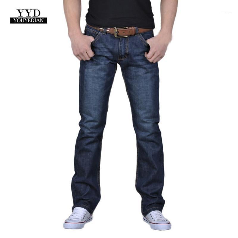 Youyedian 2021 homens casual outono denim algodão hip hop solto trabalho longo calças calças jeans calças homens jeans calças fit # 301
