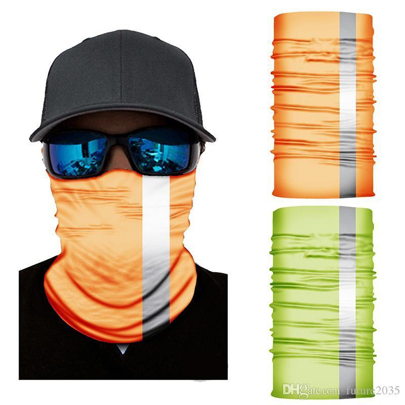 Cycling Face Mask Reflective Light Flag Printing Masks Scarf Washable Adjustable Protective