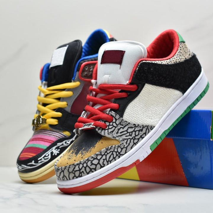 Was die p-Rod niedrige Freizeitschuhe Multicolor Patchwork Lace-up Sports Turnschuhe US5.5-11 Paul Rodriguez Skate Shoe