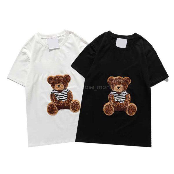 2020 Yeni Tasarımcılar T Shirt Erkek Yüksek Kalite T Gömlek Bayan Serin Ayı Baskı Kısa Kollu Çiftler Yuvarlak Boyun Tees Streetwear Erkek T Shirt Yaz Tshirt