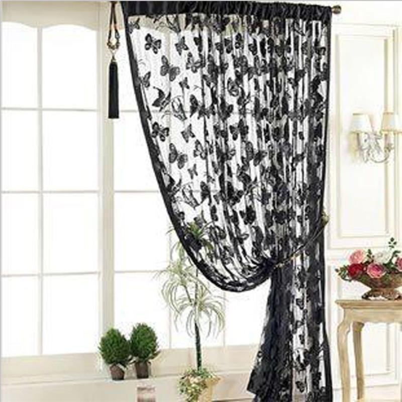 Vorhangdrapes Mode 195cm * 100 cm Multi Funktion Wohnzimmer Tür Schmetterling Muster Quaste String Vorhänge 5 Farben IC877366
