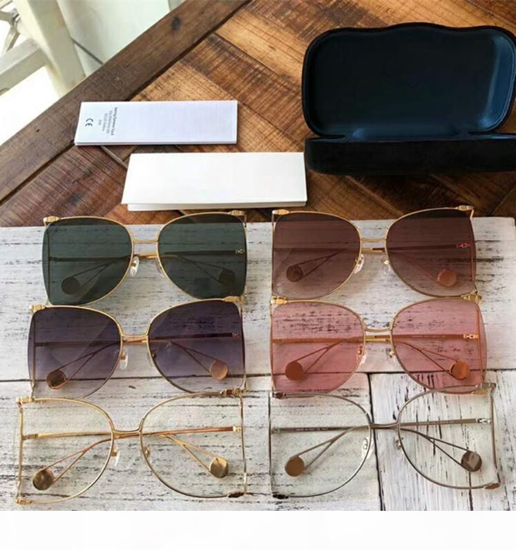 Großhandel-luxus frauen uv400 marke radient sonnenbrille für mit stil sommer pearly komm schutz sonnenglas designer sonnenbrille kasten kxcke