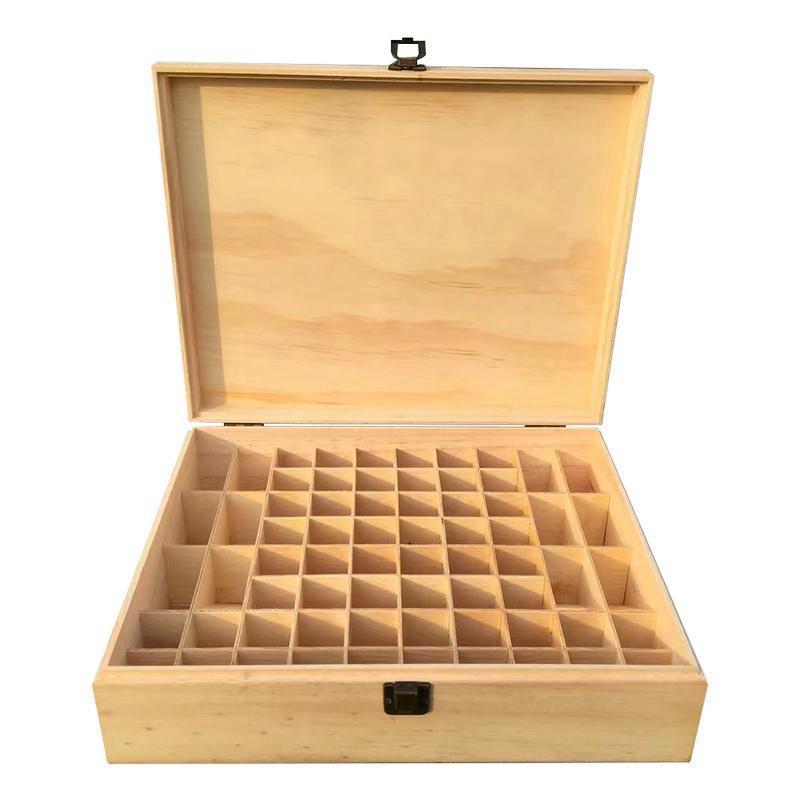 Cestas penduradas 68-grade caixa de óleo essencial de madeira armazenamento presente de madeira maciça multi-quadrado