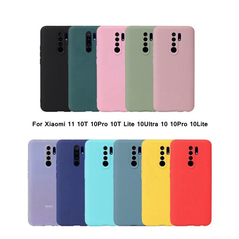 Moda Anti-Vink Renkli TPU Mat Kılıfları Için Xiaomi 11 10Pro 10 T Lite 10ULTRA XIAOMI10 10LITE Yumuşak Silikon Kapak