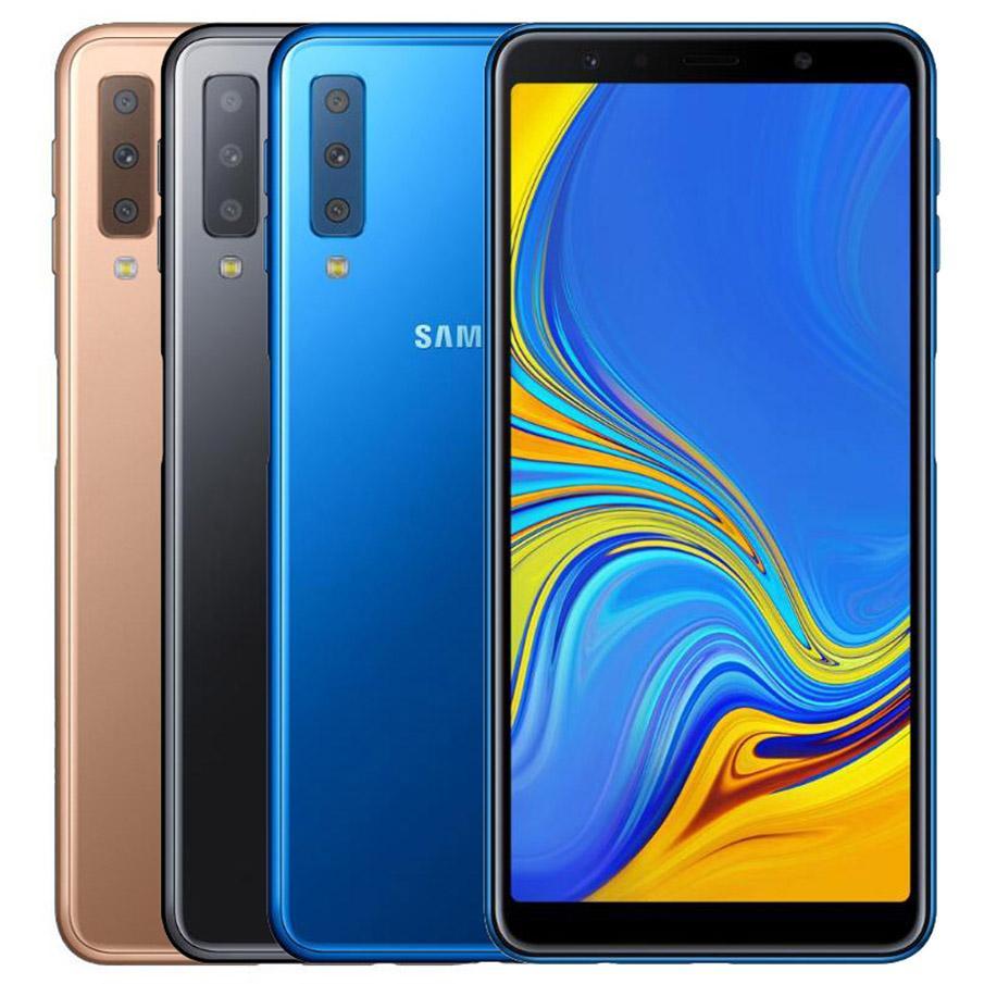 Original Refurbished Samsung Galaxy A7 2018 A750F Dual SIM 6.0 inch Octa Core 4GB RAM 64GB ROM 24MP Unlocked 4G LTE Android Smart Cell Phone DHL 5pcs