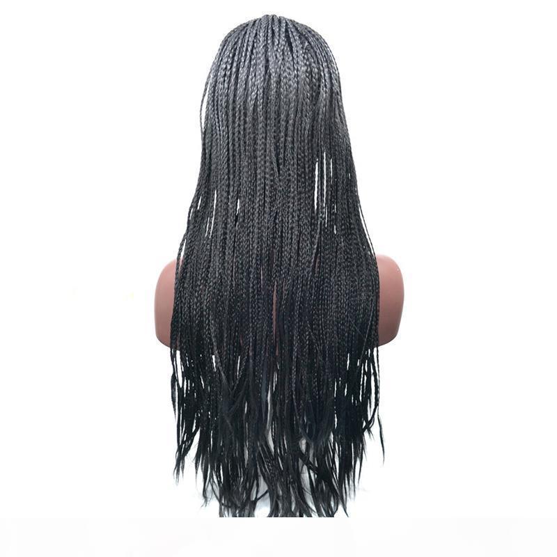18-24 polegadas de alta densidade trançado rendas dianteiras caixa de fibra sintética perucas de fibra grosso Torção de mão twist sintética Micro Havana Twist perucas