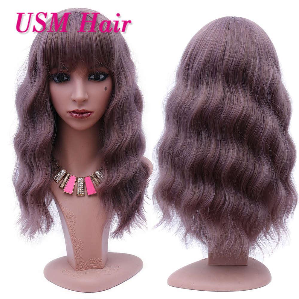 peruca feminina mulher curta cor curta cor grande onda macia cacla perucas de cabelo profundo