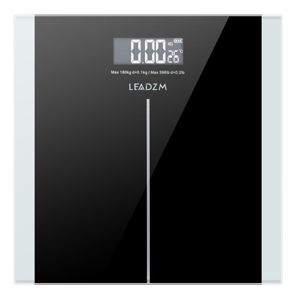 Leadzm 180kg 6 mm espesor delgado patrón de cintura conveniente simplicidad personal de pesaje personal negro cristal endurecido preciso peso medidas de peso-gt