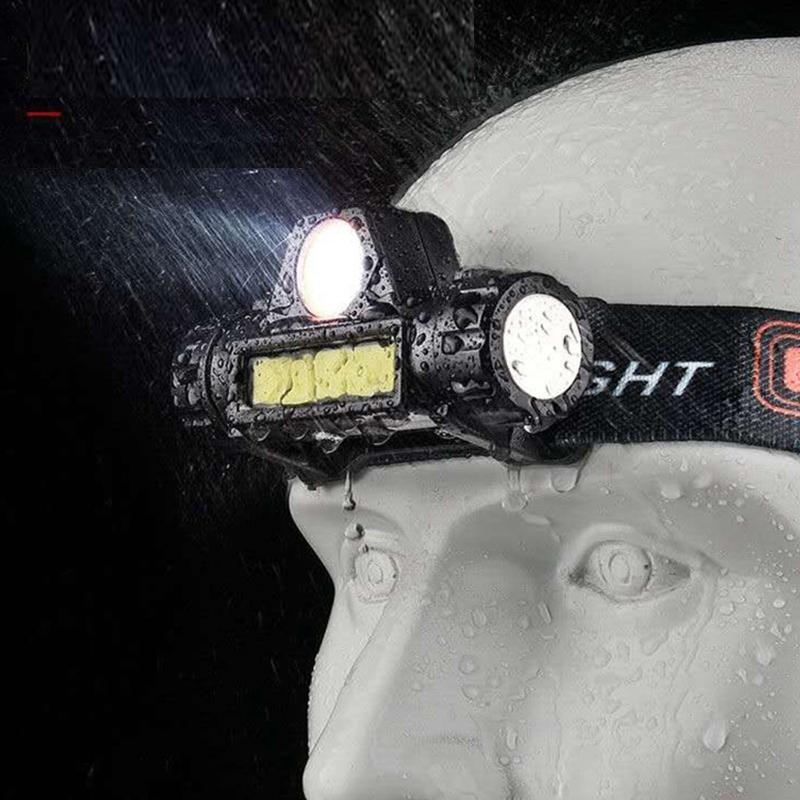 Фары 12000lm Открытый приключенческий фар Алюминиевый сплав ABS материал USB аккумуляторный водонепроницаемый светодиодный свет для кемпинга