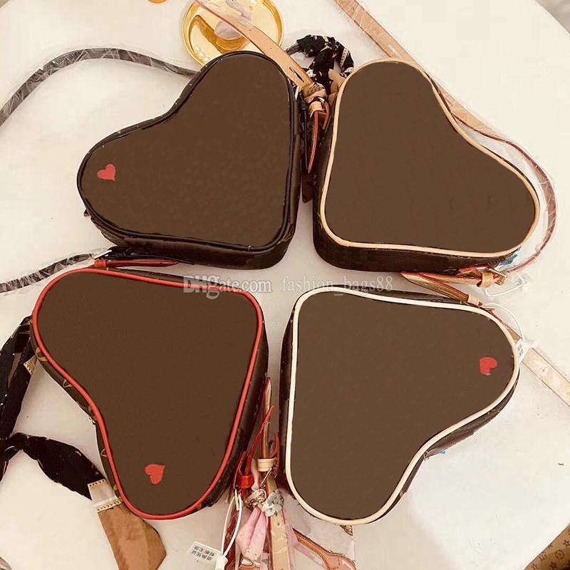 2021 sac à main sacs à main sacs de portefeuille de sacs Couleurs Quatre Femmes Zero Zero Mini Fashion Heart-Forme Femme Quality Bagexquisite Épaule Luxurys Jhvxk