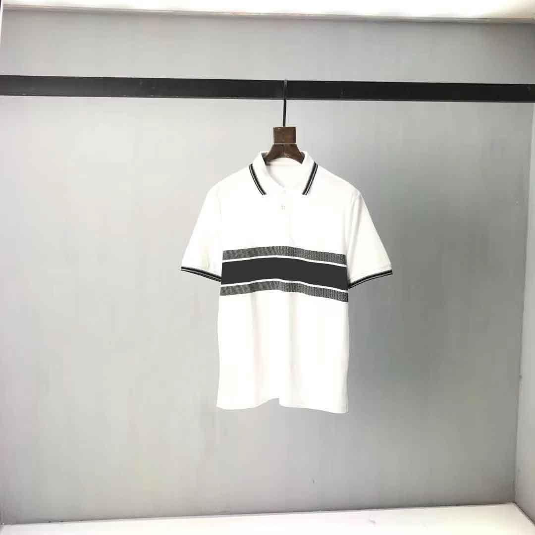 2021ss Spring and Summer NOUVEAU Panneau à col coton à manches courtes à manches courtes T-shirt Tableau: M-L-XL-XXL-XXXL Couleur: Noir Blanc 2S22212A11