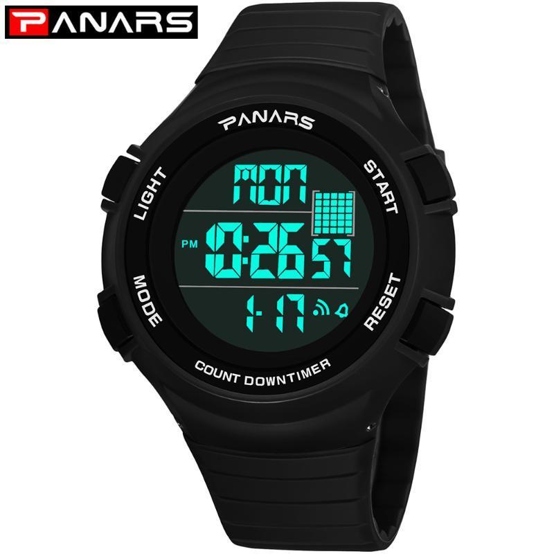 Erkek LED Dijital Saatler Su Geçirmez Chronograph Spor İzle Adam Için Açık Fitness Kronometre Çalar Saat Saati 8102 Saatı
