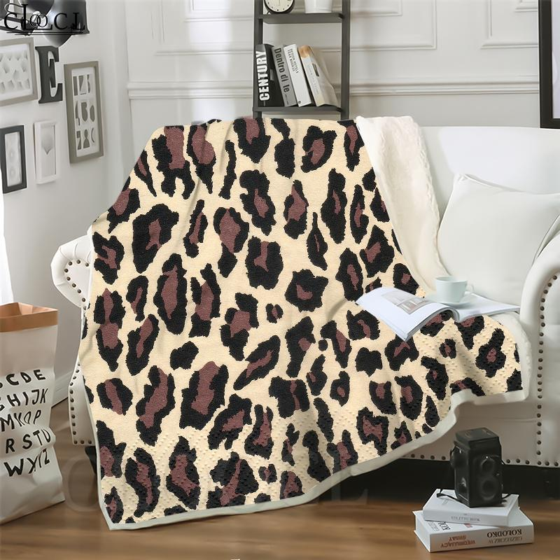 Cloocl Cobertores Leopardo Padrão 3D Imprimir Estilo de Rua Ar Condicionado Sofá Trabalho Throw Cobertor Adolescentes Pelúcia Quilt
