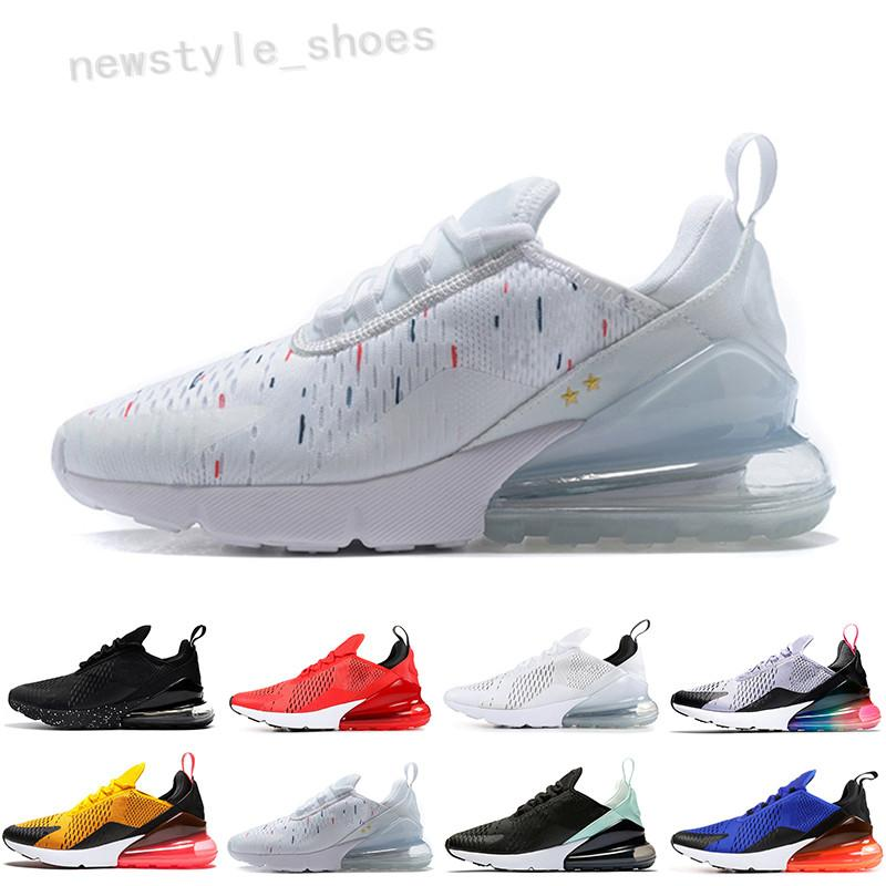 NIKE AIR MAX 270 270 Parra Punch Po Blue Mens Women runnin Shoes Triple White University Red Olive Volt Habanero 27C Fl 270s Sneakers 36-45 TK01
