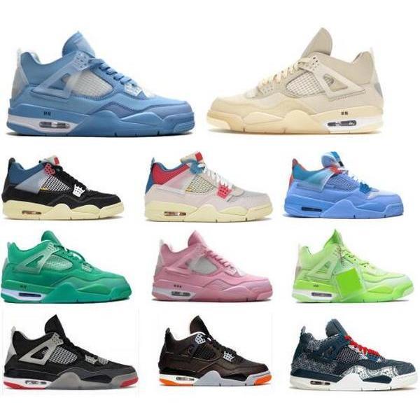 الأحذية قبالة كرة السلة 4 4S الاتحاد الشراع نوير الجوافة الجليد jumpman sashiko رجل المرأة الخضراء 2021 ديس chaussures جودة عالية أنيس المدربين أحذية