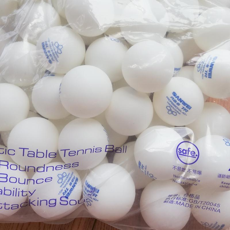 100balls Sanwei 3 성급 ABS 40+ 2021 탁구 공 ITTF 승인 훈련 소재 플라스틱 폴리 퐁 공