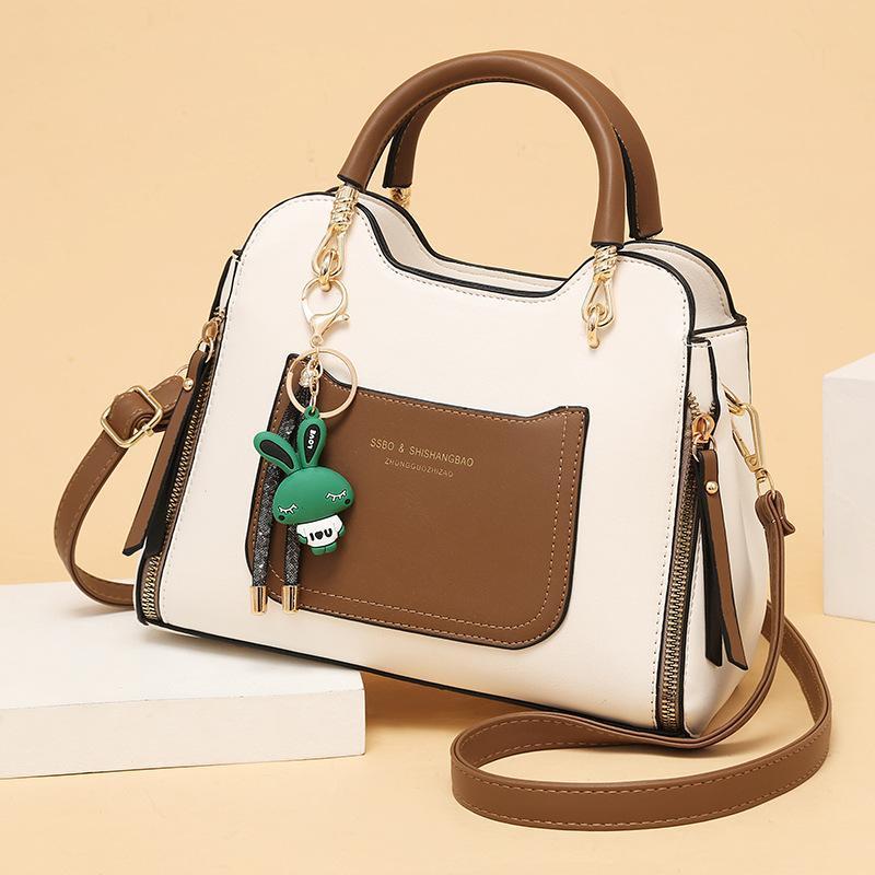 여성용 가방 2021 트렌드 패션 텍스처 메신저 가방 대기 어깨 휴대용 소형