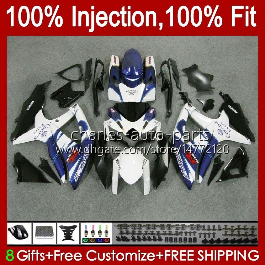 Injectievorm voor Suzuki GSXR600 K8 GSX-R750 Blue Factory NIEUWE GSXR-600 GSXR-750 GSXR750 Carrosserie 9HC.48 GSX-R600 2008 2009 2010 GSXR 600 750 CC 600CC 750CC 08 09 10 Kuip