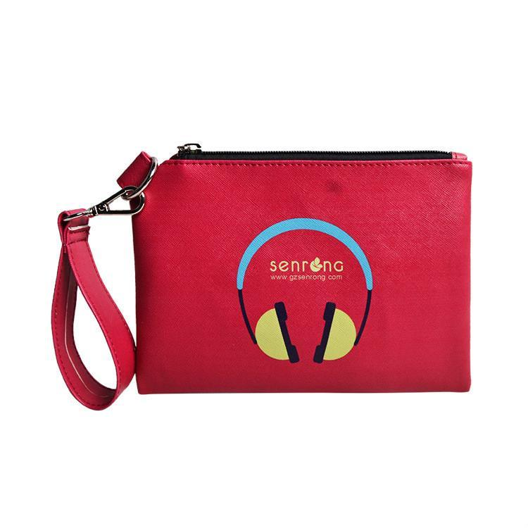 Мода Многофункциональная сумка для хранения путешествий Водонепроницаемая мытье Косметические Красные PU Кожаные Дамы Сумки муфты Чехлы