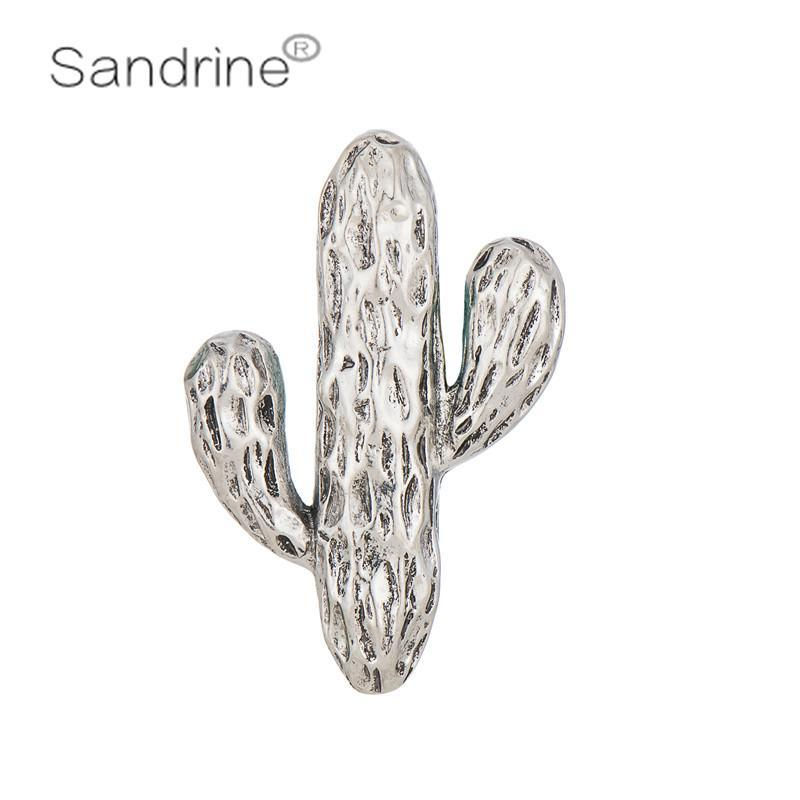 Pins, Brooches Sandrine Brand Vintage Retro Creative Designer Fashion Jewelry Cactus Plant Clothing Pins Gifts Hats Scarf Buckle Wedding