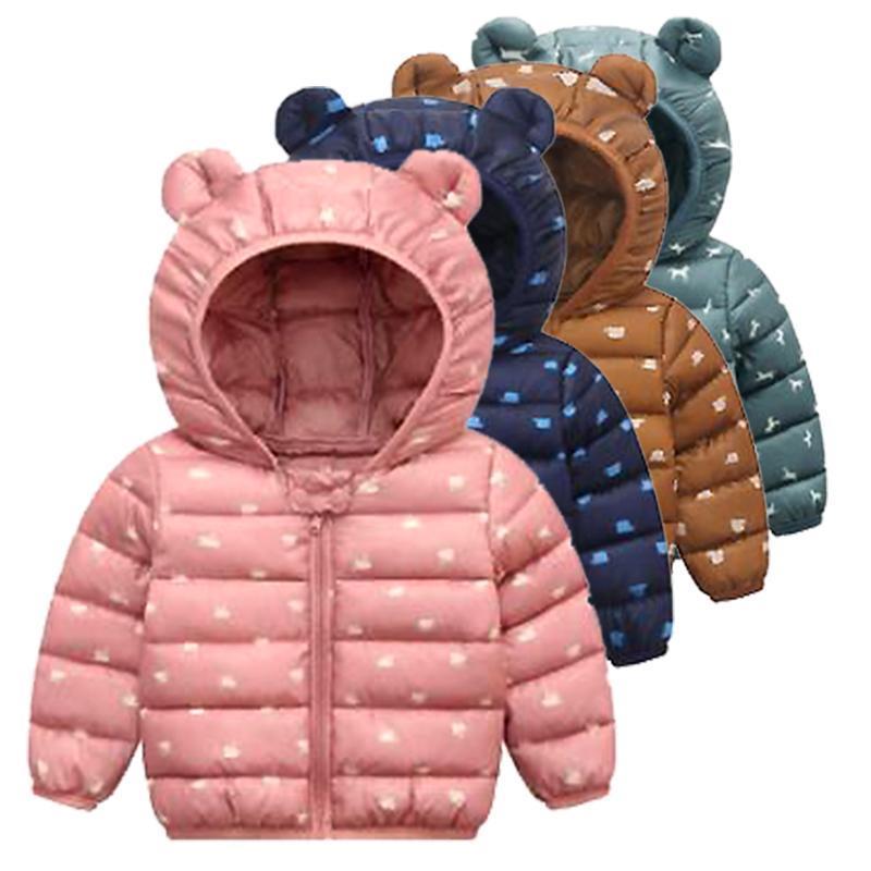 폴리 에스터 일반 겨울 소년 옷 코튼 코트 자켓 아기 따뜻한 코트 1-5 세 Beibei 품질 의류