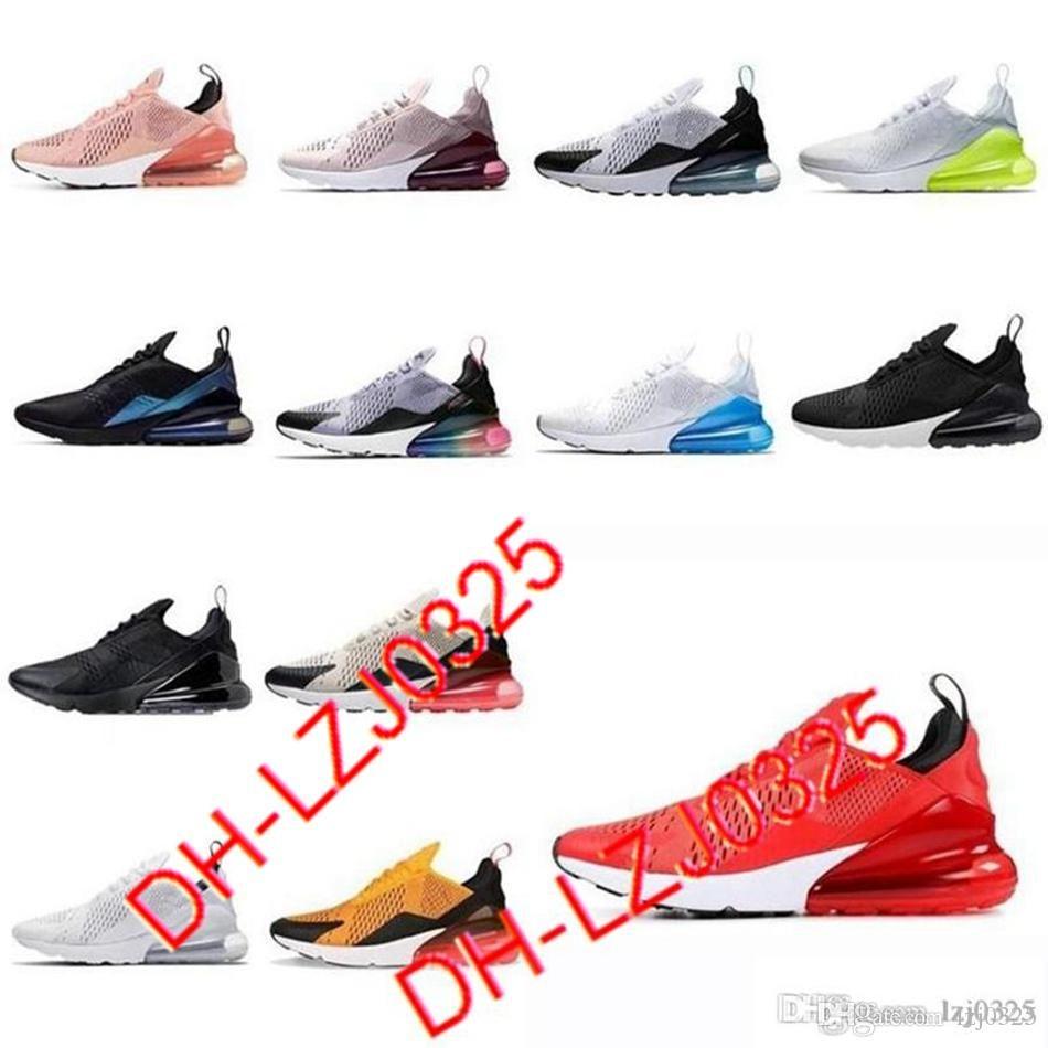 270 27c Triple Botas medianas blancas Blancas Olive Navy Punch Photo Zapatos azules Hombres Mujeres Deportes Zapatillas 36-45 DHX-H31 ABN19
