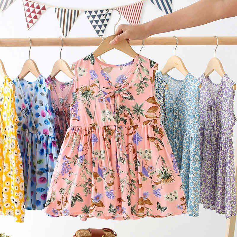 2021 Girl's Estate Floral Glest Gonna Dress per bambini