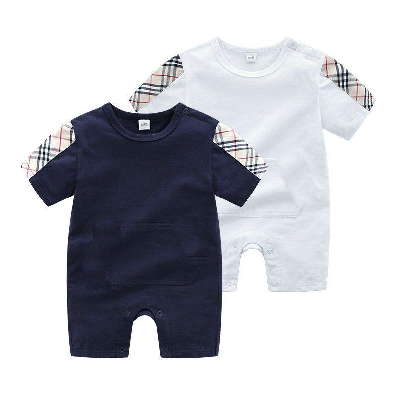 التجزئة / الجملة الوليد 0-24 متر الطفل السروال القصير نيسيس القطن جيب بذلة قطعة واحدة داخلية toddle الرضع أطفال مصمم الملابس