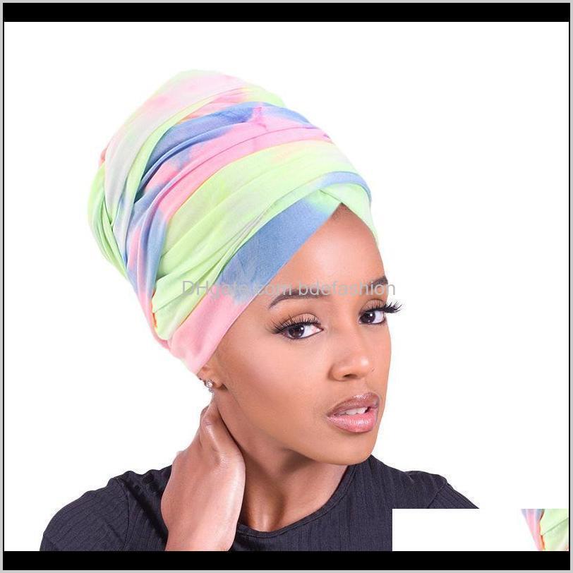 Beanie / Kafatası Şapkalar Şapka, Atkılar Eldiven Oessories Moda Kadınlar Afrika Desen Çiçek Müslüman Türban Başörtüsü Headwrap Bayanlar Kemo CA