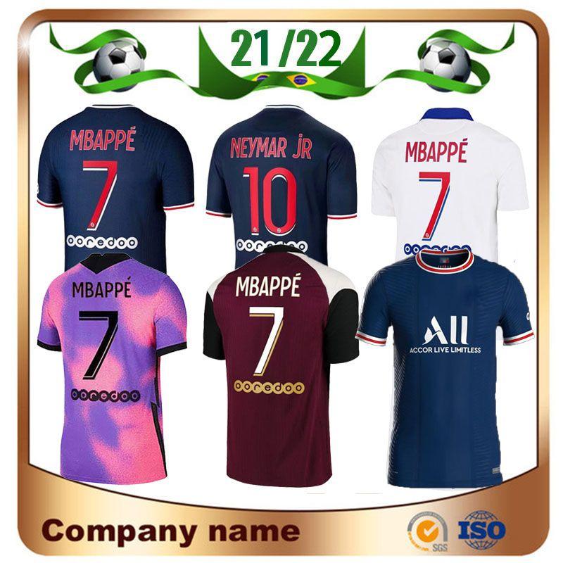 21/22 Neymar Jr Kean Soccer Jersey 2021 Paris Home Verratti Cavani Mbappe Camiseta Di Maria Draxler Away Futebol Uniformes