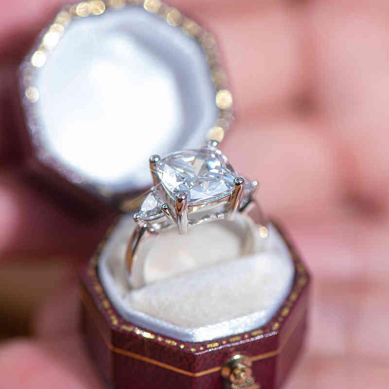 Ringe QYI Ehering Ring Superior Sona Stein Weißgold Farbe 925 Sterling Silber Für Frauen im Engagement