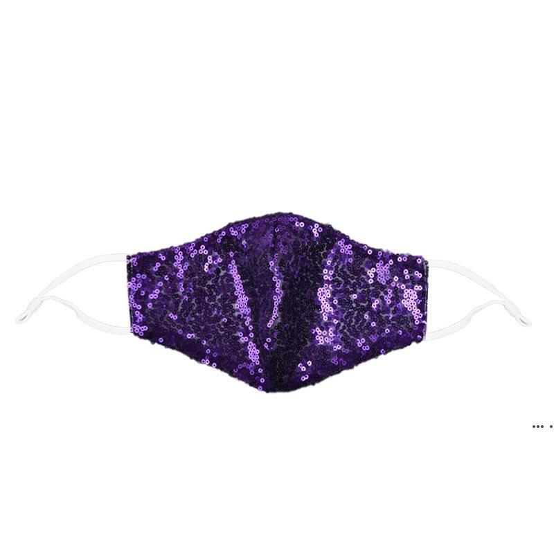 Scintillante lampeggiante gioiello pizzo maschera viso moda festa maschera donna maschera per decorazione polvere solare lavabile maschera facciale DHE5294