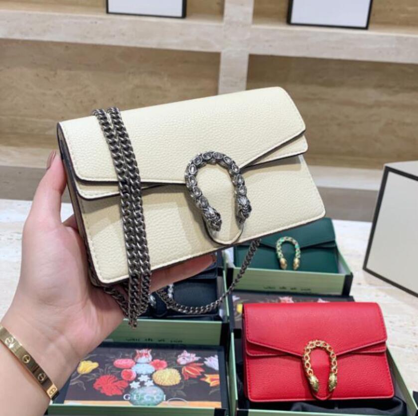 2021 Mini Classic Retro Damen Handtaschen Brieftasche Luxurys Designer Messenger Bag Mode Kette Umhängetaschen Frauen Crossbody Klappe mit Box